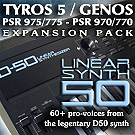 Yamaha Exapnsion Pack D50 Linear Synth