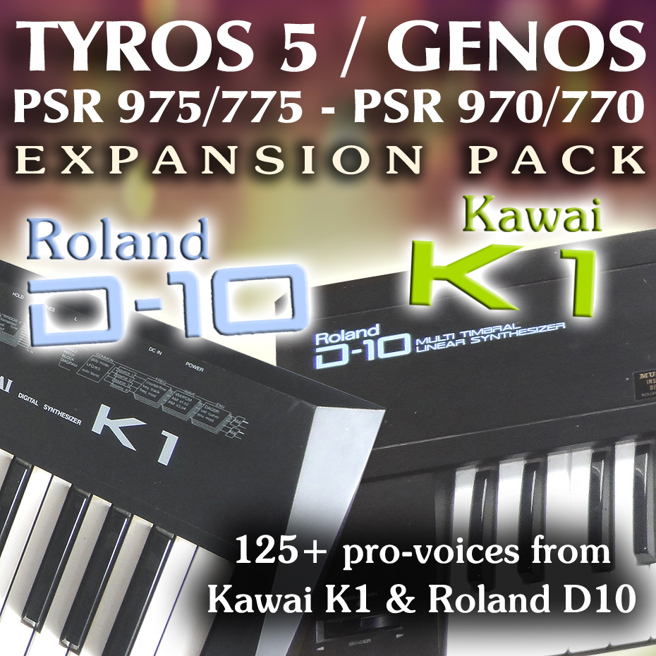 Roland D10 & Kawai K1 Expansion Pack - Sound and Styles