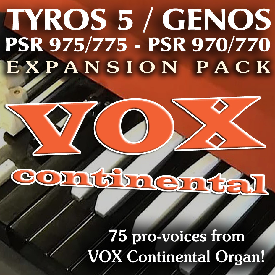 VOX CONTINENTAL Expansion Pack for Yamaha arrangers - Sound