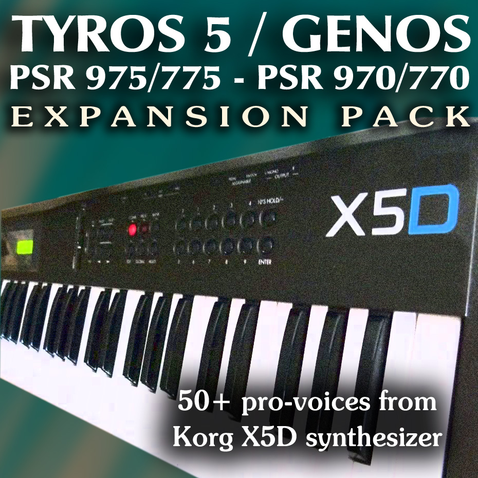 Korg X5D Expansion Pack - Sound and Styles